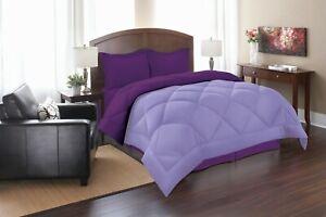 Goose Down Alternative Reversible Comforter Set , With Shams