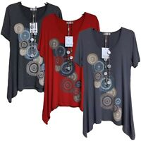 Ladies Women Tunic:Short-sleeves Necklace Long Top Plus Size Loose T-shirt(RE01)