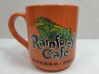 Rainforest Cafe Orange Coffee Mug Iggy the Iguana Large 16 oz. Collectible Mug