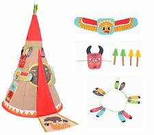 Vinsani Childrens Kids Teepee Indian History Pop-up Indoor Outdoor Play Tent  sc 1 st  eBay & Pop Up Play Tents | eBay