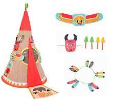 Vinsani per bambini Teepee INDIANO STORIA Pop-Up Giocare Tenda Indoor Outdoor