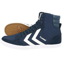 HUMMEL SLIMMER STADIL HIGH SCHUHE SPORT HIGH TOP SNEAKER BLUE WHITE 63-511-7647
