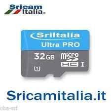 Micro sd 32gb classe 10 SriItalia MicroSDHC Ultra Pro da 32 GB  Adattatore SD