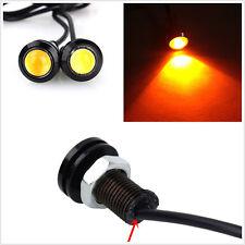 10 X Amber White Eagle Eye 18mm 10W Car Vehicle Fog DRL LED COB Light Headlamps