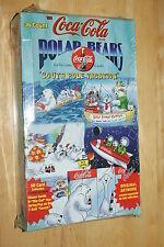 Coca-Cola South Pole Vacation Coke Polar Bears Trading Card Box 36 packs of 8