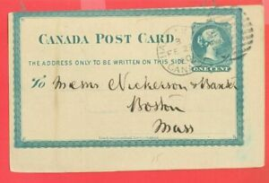 Canada Victoria QV Stationary 1c Post Card Variety Major Shifting to USA 1900
