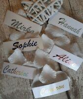 Personalised Name Vinyl Sticker Wedding Wine Glass Bottle Hen Do Bottle  Bauble