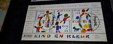 Nederland kinderzegels 2002 velletje gestempeld