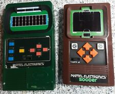 (2) 1978 Mattel Electronics Soccer Football 2 Handheld Game Electronic Working