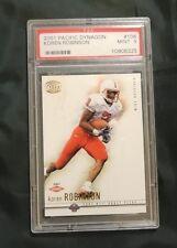 2001 Pacific Dynagon Football Koren Robinson Rookie Card #106 PSA GEM MINT 9