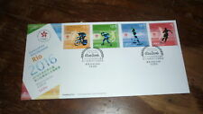 2016 HONG KONG STAMP ISSUE FDC, RIO 2016 OLYMPIC GAMES SET OF 4 STAMPS