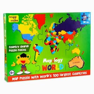 Mapology World- World Map and its Countries,Country Shaped Puzzel Pieces Age 4+