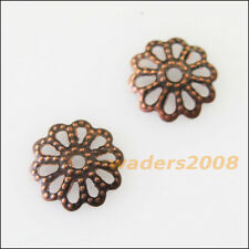 300 New Antiqued Copper Connectors Flower End Bead Caps Charms 9mm