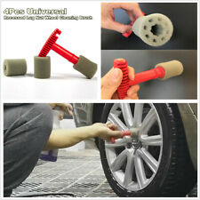 4Pc Universal Fitting Recessed Lug Nut Wheel Clean Brush Removable Insert Sponge