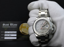 ROLEX Mens New Old Stock 40mm Platinum & Stainless YachtMaster 16622 SANT BLANC