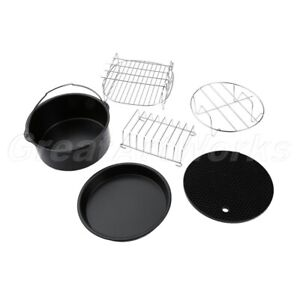 Cooking & Baking Tray Pan With Rack Chips Dish Air Fryer Accessories Set Kit