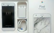 "Pixel Phone by Google 5"" 128GB Very Silver Unlocked Excellent Condition"