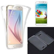 Funda gel transparente tapa delantera Tactil para Samsung Galaxy S6 Edge