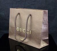 NEW Genuine GUCCI Embossed Brown Sunglasses Perfume EDT Accessory Gift Bag Wrap