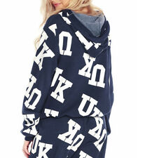 Wildfox Couture UK Malibu Pullover Hoodie In Oxford Navy Blue Retail $132 Size M