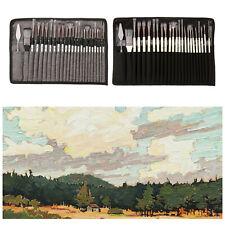 24 pièces Artiste Peinture Pinceaux Acrylique Huile Aquarelle Peinture