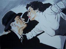 New listing Original art - Light Me - 2020 film noir, pulp illustration