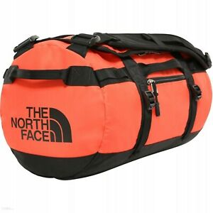 THE NORTH FACE BASE CAMP DUFFEL BAG SIZE XS FLARE ORANGE / TNF BLACK