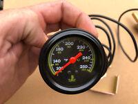 52mm Temperature Guage Capillary Tube Remote Sensor Oil Water 100-250F (38-121C)