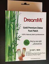 20P GOLD Premium Detox Foot Pad &Adhesive Tape Organic Herbal Cleansing WITH BOX