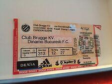 Football Ticket - UEFA - Champions league - Club Brugge - Dinamo Bucuresti FC