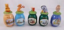 Disney Winnie the Pooh Owl Eeyore Rabbit Piglet Spice Jars Containers Bottles