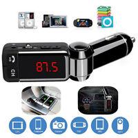 FM Transmitter Car Bluetooth Music Receiver 3.5mm Adapter Handsfree AUX Speaker