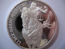1-OZ..999 SILVER 4 HORSEMEN THE APOCALYPSE PROPHECY BLACK HORSE OF FAMINE +GOLD