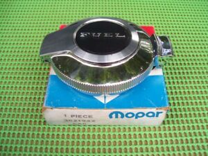 "NOS MoPar 1969 1970 Dodge Charger Plymouth Barracuda flip top GAS CAP ""FUEL"""