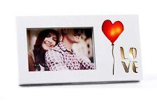 San Valentino Portafoto Cornice Cuore Love con Led luce in legno by Mandorle