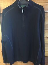 The Highlands Collection Mens 1/2 Zip Pullover Heavy Black Xl X-Large