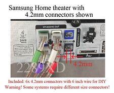 6c 4.2mm speaker plugs made for Samsung HT-F4500/F5500W/H4500/H5500W/FM53/FM65WC