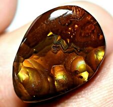 100% Natural Fire Agate AAA+ Mexican 9.25 Ct Gemstone AGL Certified 16 x 12 mm
