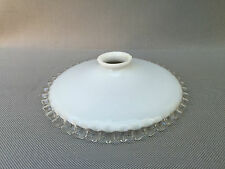 Abat-jour opaline dentelée années art populaire french antique lampshade