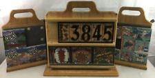 (3) Wood Double Sided Display Stands For Tiles Lot 2407