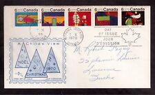 CANADA 1970 FIRST DAY COVER #528a se-tenant strip of 5, CHRISTMAS !!