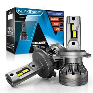 NOVSIGHT H4 120W 22000LM LED Headlight Conversion Globe Bulb Beam 6500K HB2 9003