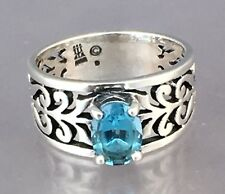 James Avery Sterling Silver Adoree Ring With Blue Topaz