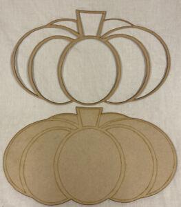 HA4 2X Large Halloween Blank pumpkins 50cm X 30cm. MDF Craft Shapes