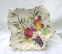 Southern Potteries Blue Ridge Fruit Basket Maple Leaf Relish Dish