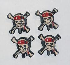JIBBITZ  Crocs Disney PIRATES OF THE CARIBBEAN SHOE CHARMS Scull Cross Bones Lot