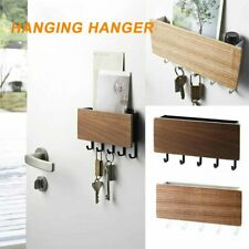 Wooden Wall Mounted Hanging Hanger Hooks Key Holder Storage Rack Organizer @I