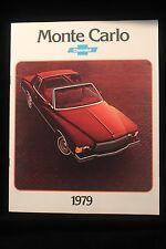 Vintage 1979 Chevrolet Monte Carlo Color Brochure Booklet EXCELLENT