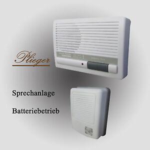 1 Familienhaus Gegensprechanlage Trafo o. Batterie-Betrieb Wechselsprechanlage