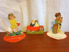 3 Vintage Stand Up Valentine Cards